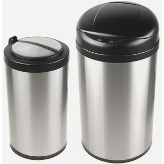 Nine Stars Auto open Motion Sensor Infrared Trash Can Combo Pack Today