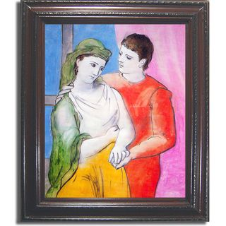 Pablo Picasso The Lovers Framed Canvas Art