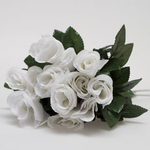 Artificial White Roses Toys & Games