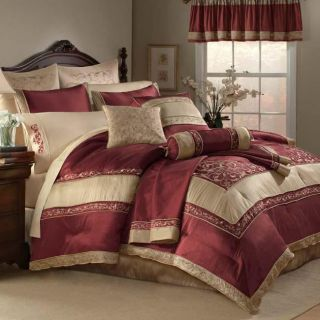 Florentina Garnet King size 22 piece Bed in a Bag with Two Sheet Sets