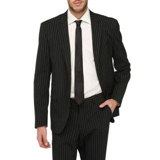 Costume 2 pièces. Veste col tailleur, manches longues, fermeture 2
