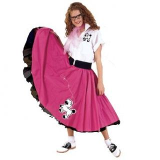 Complete Poodle Skirt Outfit (Pink & White) Adult Plus