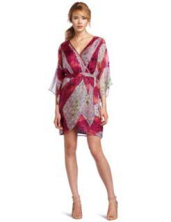 Charlie Jade Womens Vela 3/4 Sleeve Wrap Dress Clothing