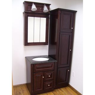 Four Piece Heritage Cherry Bathroom Set