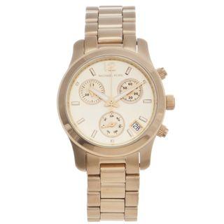 Michael Kors Womens Goldtone Runway Chronograph Watch
