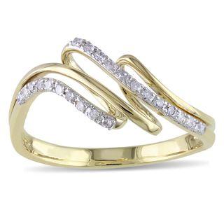 Miadora 14k Yellow Gold 1/6ct TDW Diamond Ring (H I, I2 I3