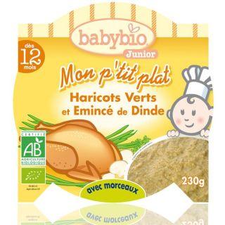 Assiette Menu Babybio Plat Légumes Dinde   230 gr