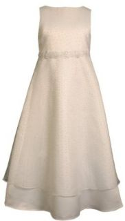 Bonnie Jean Girls 7 16 Sleeveless Communion Dress,White,12