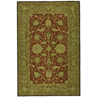 Safavieh Handmade Anatolia Rust/ Green Hand spun Wool Rug