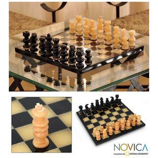 Onyx and Marble Victory Chess Set (Mexico)