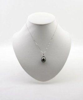 Sterling SIlver Necklace w/ Seashell Teardrop Pearl, EE 155 Jewelry