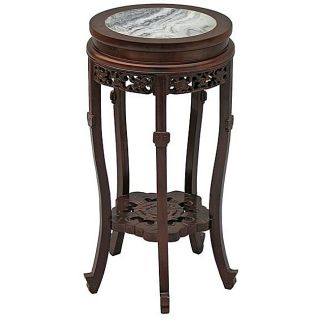 Antique style End Table with Marble Top