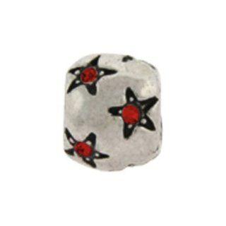 Ruby Stars July Birthstone Oriana Bead   Pandora Bead