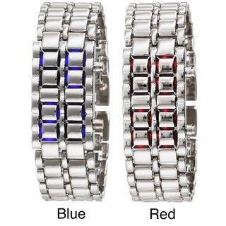 Stainless Steel Womens Lava LED Digital Bracelet Watch