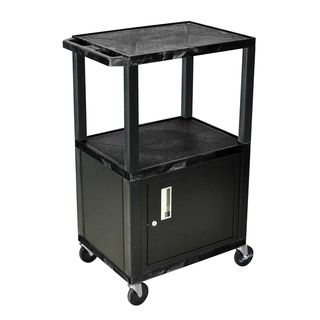 Wilson 42 inch Black Tuffy Multi Purpose Utility Cart with Cabinet