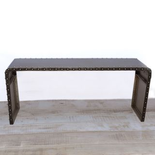 Manali Waterfall Antique Nickel Console Table (India)