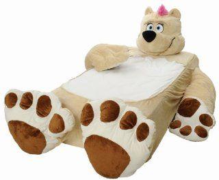 Incredibeds Kids Bed Childs Toddler Teddy Bear Beige Frame
