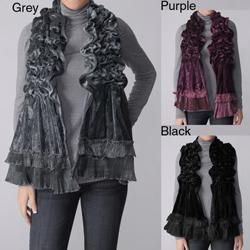 Hailey Jeans Co. Pretty Angel Womens Shirred Velour Scarf