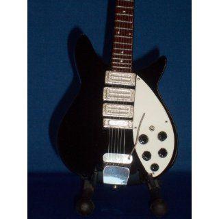 Mini Guitar BEATLES JOHN LENNON Black Statuette