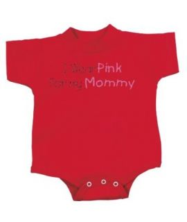 Breast Cancer Awareness Baby Romper Ribbon I Wear Pink for