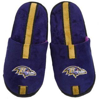 Baltimore Ravens Striped Slide Slippers