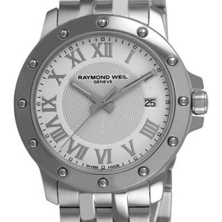 Raymond Weil Mens Tango Stainless Steel White Face Watch