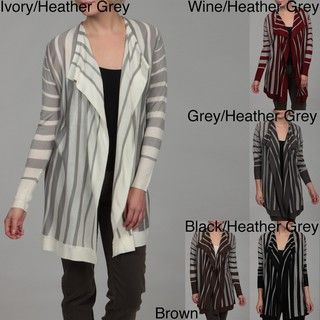 Jessi Womens Striped Cashmere Cardigan
