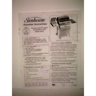 Sunbeam Assembly Instructions for Portable Liquid Propane Gas Barbecue