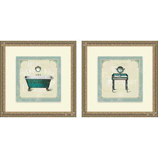 Sue Schlabach Parisean Bath III & IV Framed Print