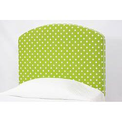 Nola Kiwi Green/ White Polka Dot Upholstered Twin Headboard