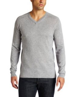 7 For All Mankind Mens Long Sleeve Heathered V Neck Shirt
