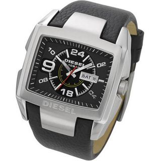 Diesel Mens Black Leather Strap Watch Today $129.99 5.0 (2 reviews