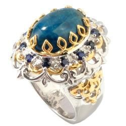 Michael Valitutti Two tone Apatite and Blue Sapphire Ring