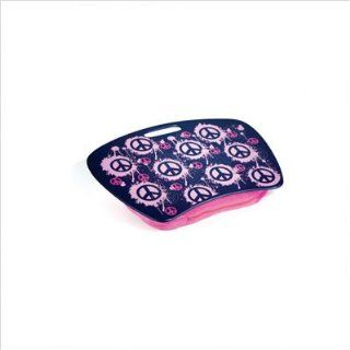 PINK peace SIGN girl writing LAP DESK portable School