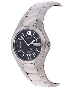 Citizen Eco Drive WR 100 Titanium Mens Watch