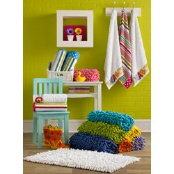 Shag Chenille 100 percent Cotton Kids Bath Rug