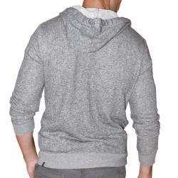 191 Unlimited Mens Grey Terry Cloth Hoodie