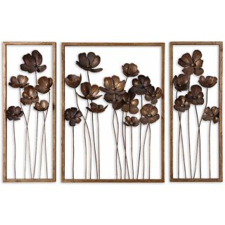 Antiqued Gold Leaf Framed Metal Tulips Today $327.80