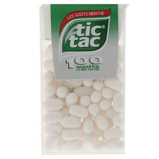 100 pastilles   Achat / Vente CONFISERIE DE SUCRE TIC TAC Menthe 100