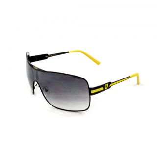 Mens Black/ Yellow Shield Sunglasses
