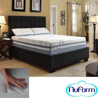 NuForm Luxury Gel Memory Foam 13 inch Dual Layer King size Mattress