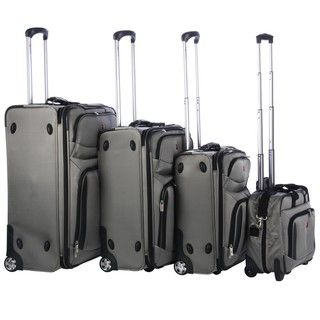 Wenger Lucerne Lite XLT Collection Silver 4 piece Luggage Set