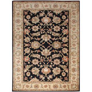 Hand tufted Black Wool Area Rug (10 x 14)