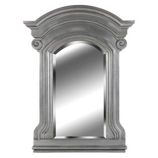 Claiborne 37x28 Antique Pewter Wall Mirror