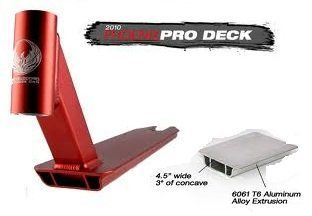 Phoenix Pro Scooter Deck Standard in Red: Sports