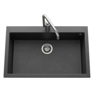 Cuve Quadra 790x500 coloris granit noir métal   Achat / Vente LAVABO