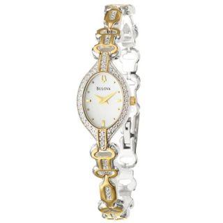 Bulova Womens Diamonds Two tone Steel Quartz Watch