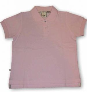 Girls pique polo shirt in light pink Clothing