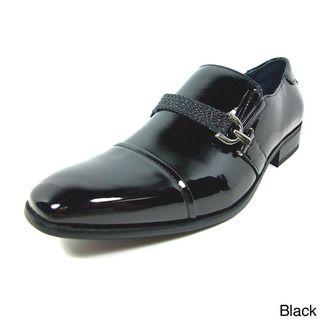 Delli Aldo Mens Patent Leatherette Slip on Dress Shoes