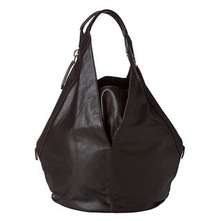 Givenchy Tinhan Medium Chocolate Brown Leather Hobo Bag
